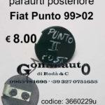 Tappo gancio traino paraurti posteriore Fiat Punto 99 > 02