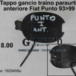 Tappo gancio traino paraurti anteriore Fiat Punto 93>99