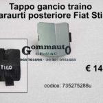 Tappo gancio traino paraurti posteriore Fiat Stilo