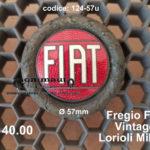 Fregio Fiat vintage Lorioli Milano  Ø 57