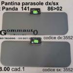 Pantina / aletta parasole dx/sx Fiat Panda 141   86>02