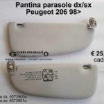 Pantina/ aletta parasole dx/sx Peugeot 206  98>