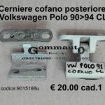 Cerniera cofano posteriore Volkswagen Polo CL 90>94