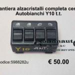 Pulsantiera alzacristalli completa centrale Autobianchi Y10 t.t.