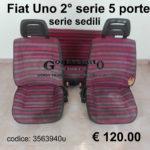 Serie sedili Fiat Uno seconda serie
