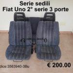 Serie sedili Fiat Uno seconda serie 3 porte