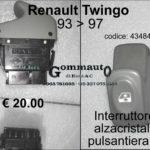 Interruttore alzacristalli sx per pulsantiera sx Renault Twingo 93>97