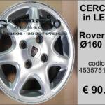 Cerchio in lega Rover 620  diametro 160 R15