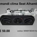 Centralina / comandi clima Seat Alhambra