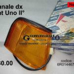 Fanale dx arancio Fiat Uno seconda serie SIEM 6R0144672