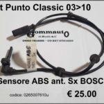 Sensore ABS anteriore sx BOSCH Fiat Punto Classic 03>10
