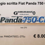 Fregio scritta Fiat Panda 750 CL mm 270 x 35