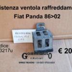 Resistenza ventola raffreddamento Fiat Panda 86>02