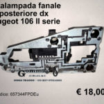 Portalampade fanale posteriore dx Peugeot 106 2°