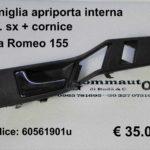 Maniglia apriporta interna anteriore sx Alfa Romeo 155