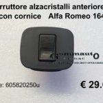 Interruttore alzacristalli anteriore dx con cornice Alfa Romeo 164