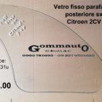 Vetro fisso parafango posteriore sx Citroen 2CV 63>90