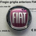 Fregio griglia anteriore FIAT diametro mm 95