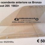 Vetro scendente anteriore sx bronzo Peugeot 205 1983>