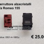 Interruttore alzacristalli Alfa Romeo 155