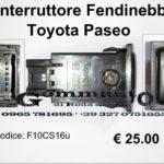 Interruttore fendinebbia Toyota Paseo  96>