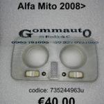 Plafoniera abitacolo Alfa Mito 2008>