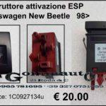 Interruttore attivazione ESP Volkswagen New Beetle 98>