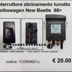 Interruttore sbrinamento lunotto Volkswagen New Beetle 98>