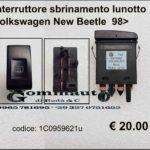 Interruttore sbrinamento lunotto Volkswagen New Beetle 98>