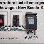 Interruttore luci di emergenza Volkswagen New Beetle 98>