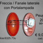 Freccia/Fanale laterale con Portalampada Peugeot 206 98>03