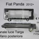 Fanale luce Targa cofano post. Fiat Panda 2012>