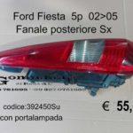 Fanale posteriore Sx con portalampada Ford Fiesta 5p  02>05  392540