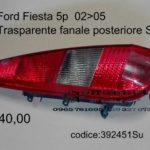 Trasparente fanale posteriore Sx Ford Fiesta 5p  02>05