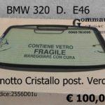 Lunotto Cristallo posteriore Verde BMW 320 D. E46  98>