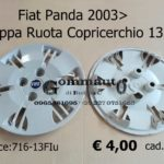 "Coppa Ruota Copricerchio 13""  Fiat Panda 03>"