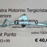 Piastra Motorino Tergicristallo anteriore Fiat Punto 93>99 TGE 207