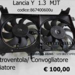 Elettroventola Convogliatore Radiatore Lancia Y 1.3 MJT 867400600