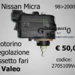 Motorino regolazione assetto fari Nissan Micra 98>00 Valeo 2705109V