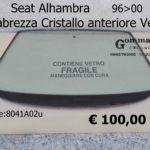 Parabrezza Cristallo anteriore Verde  Seat Alhambra 96>00