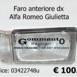 Faro anteriore Dx Alfa Romeo Giulietta 81>