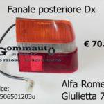 Fanale posteriore Dx Alfa Romeo Giulietta 77>