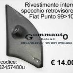 Rivestimento interno specchio retrovisore Sx Fiat Punto Classic 99>10