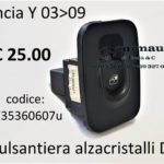 Pulsantiera alzacristalli Dx Lancia Y 03>09