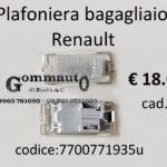 Plafoniera bagagliaio Renault