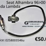 Sonda lambda Seat Alhambra 96>00