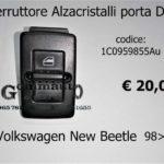 Interruttore Alzacristalli Porta Dx Volkswagen New Beetle 98>
