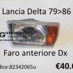 Faro anteriore Dx Lancia Delta 79>86