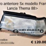 Faro anteriore Sx  Lancia Thema 88>