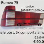 Fanale posteriore Sx con portalampade Alfa Romeo 75 88>93